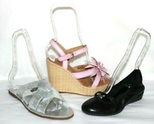 Clear Acrylic Shoe Shaping Form Sandal Display 4 Units New Best Quality L k