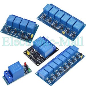 12v 24v 1 2 4 8 Channels Relay Module Interface Board With Optocoupler 4 Arduino