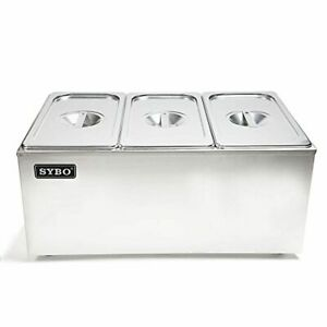 Sybo Zck165a 3 Commercial Grade Stainless Steel Bain Marie Buffet Food Warmer St