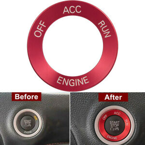 Red Engine Start Stop Button Switch Cover Knob Trim For Dodge Challenger Charger
