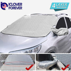 Car Windshield Snow Cover Ice Frost Sun Protector Winter Magnetic Guard Large