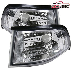 For 1994 1998 Ford Mustang Clear Corner Lights Lamps Turn Signal Lights Lamps