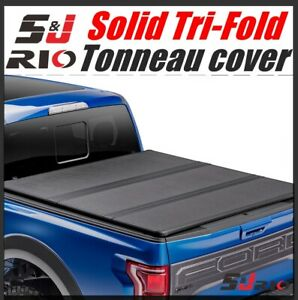 Hard Solid Tri fold Tonneau Cover For 2004 2020 Ford F 150 5 5 Ft 66 Short Bed