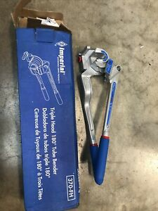 1 New Imperial 370 fh Triple Head 180 Tube Bender 1 4 3 16 3 8 1 2