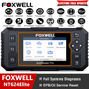 Foxwell Auto Full System Obd2 Diagnostic Scanner Epb Abs Srs Sas Oil Code Reader