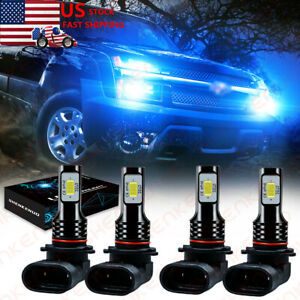 For Chevy Silverado1500 2500 Hd 2001 2006 8000k Combo Led Headlight Bulbs Kits