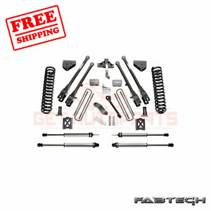 Fabtech 6 4 Link System W Dirt Logic Ss Shocks For Ford F350 4wd 2005 07