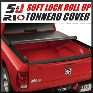Soft Lock Roll Up Tonneau Cover For 2009 2018 Dodge Ram 1500 5 7 Ft Bed Only