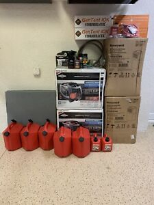 2 Briggs And Stratton Portable Generators Package With Needed Accessories