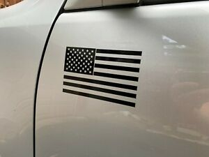 2 Matte Black American Flag Vinyl Decal Sticker Toyota Tacoma And Tundra
