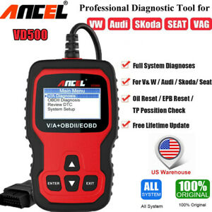 Ancel Vd500 Auto Scanner Engine Code Reader Oil Epb Diagnostic For Vw For Audi