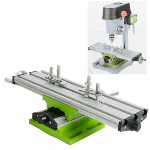 Milling Machine Compound Work Table Cross Slide Bench Drill Press Vise Device