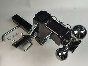 Hd 3 Ball Adjustable Drop turn Trailer Tow 2 Hitch Mount Towing Truck Solid