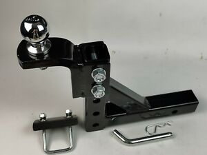 10 Trailer Drop Hitch Ball Mount 2 Receiver W 2 Hitch Ball Tightener Adjustable