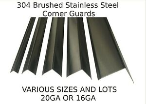 Stainless Steel Corner Guards Sheet Metal Wall Angle various Sizes And Lots