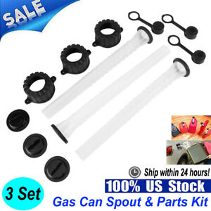 3 Set Fuel Gas Can Spout Cap Parts Kit Replacement For Refuel Rubbermaid Blitz