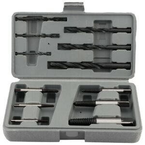 1 Set 12x Easy Out Rigid Screw Extractor Drill Bits Guide Bolts Remover Tool Gn