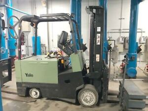 10000 Lb Capacity Yale Electric Forklift With 8 X 54 Forks Battery Charger