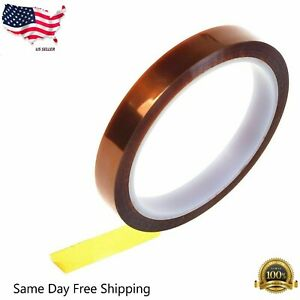 8mm 100ft Kapton Polyimide Tape Adhesive High Temperature Heat Resistant Usa 33m