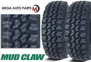 2 Mud Claw Extreme M T 35x12 50r17lt 121q E Mud Terrain All Season Truck Tires
