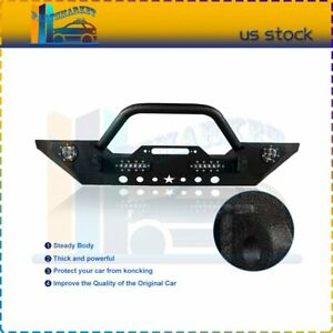 For Jeep Wrangler Jk 2007 2018 Front Bumper Complete Assembly Steel Us