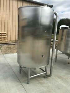 400 Gallon Vertical 304 Stainless Steel Tank Open Top On Legs W Cone Bottom