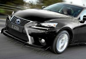 For 14 16 Lexus Is250 Is350 Painted Black Jdm Front Bumper Body Kit Spoiler Lip