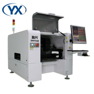 Pick And Place Machine Smt550 For 0201 With 4 Heads 50 Feeders Vision System
