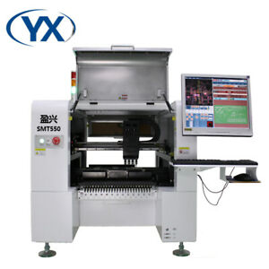 Pick And Place Smt Machine Led Chip Mounter Machine Smt550 With Conveyor
