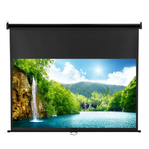 100 16 9 Manual Pull Down Projection Projector Screen Hd Home Theater Movie