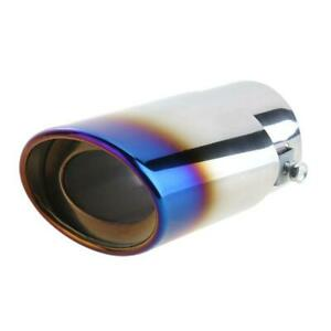 Car Burnt Blue Muffler Tip Exhaust Pipe Tail Titanium Stainless Steel Car Rear