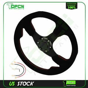 350mm Momo Tuner Leather Steering Wheel 350mm New Sport Competition Tuning Drift