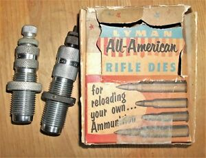 Vintage LYMAN ALL AMERICAN and CH Reloading DIES .30 06 amp; .30 CARBINE w Box $16.99