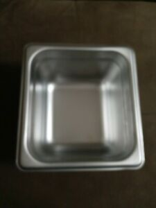 1 6 Size Stainless Steel Steam Prep Table Commercial Food Pan 4 Deep Never Used