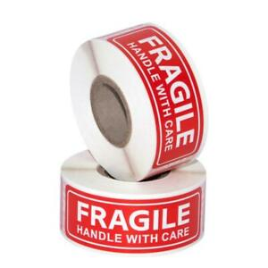 2 Roll Fragile Handle With Care Label Stickers 1 X 3 High Quality 250per Roll