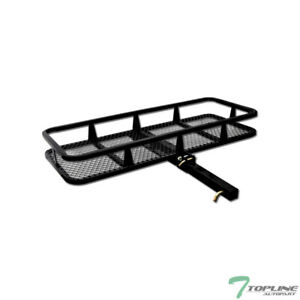 Topline 50 Mesh Foldable Trailer Hitch Cargo Carrier Basket For Chevy T02 Blk