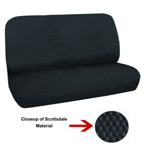 Universal Full Size Bench Truck Seat Cover Scotsdale Black Fits Chevy Ford Dodge
