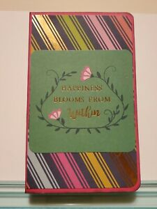 Handmade Refillable Large Sticky Note Holder Happiness Blooms Design
