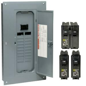 Square D Main Breaker 100 Amp 20 space 40 circuit Neutral load Center Value Pack