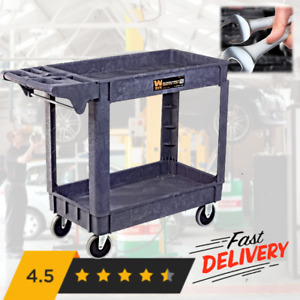 Mobile Tool Service Utility Rolling Cart 40 X 17 Large Garage Heavy Duty Storage