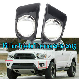 Fit Toyota Tacoma 2012 2013 2014 2015 1pc Front Bumper Fog Light Cover Ring Trim