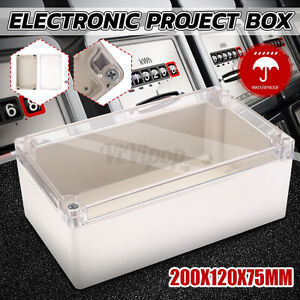 7 87x4 7x2 95 Clear Electronic Project Box Enclosure Case Waterproof Plastic
