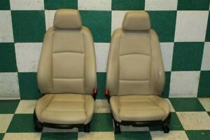 08 13 128i Coupe Hot Rod Tan Leather Power Driver Passenger Bucket Seat Pair Oem