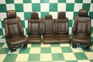 11 14 F150 Crew Platinum Brown Leather Heat Cooled Power Buckets Seats Backseat