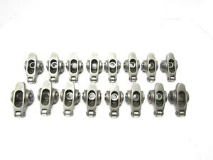 Stainless Steel Roller Rocker Arms 1 6 1 5 Sb Chevy Imca Ump Dragrace Crower