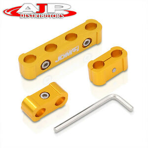Jdm Light Weight Cnc Aluminum Spark Plug Wires Spacers Gold 4 Cylinder Engines