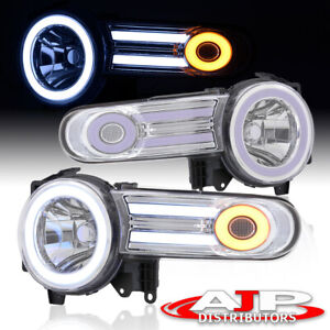 Clear Chrome Housing Projector Led Drl Headlights Lamps For 2007 2014 Fj Cruiser