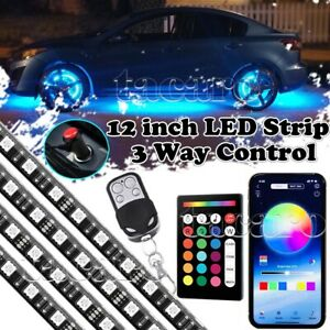 4x All color Wheel Well Led Light Kit Custom Accent Neon Interior Strip Rim Tire