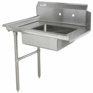 Commercial Stainless Steel Left Side Dirty Soiled 48 Dish Washer Table Sink 4