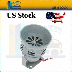 Black Air Raid Siren Horn Alarm 110db Tornado Alarm Real Motor Driven Car Truck